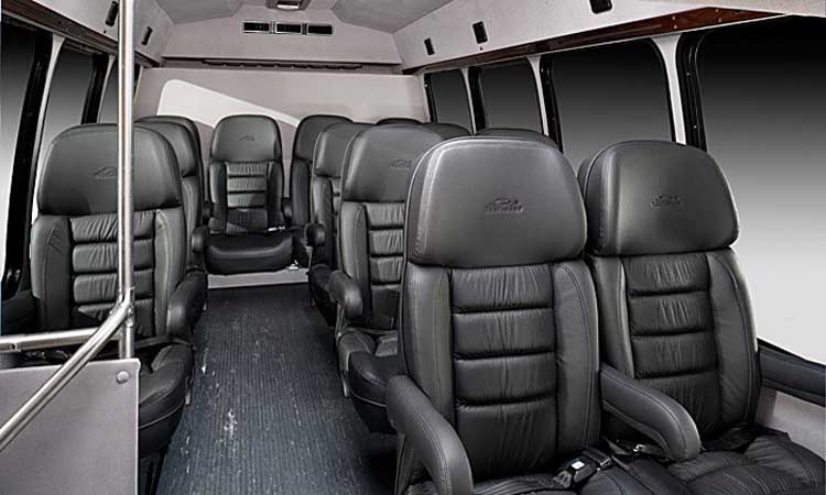 Houston Galleria Limousine - 18 Passengers Corporate Limo Bus - Inside